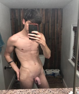 Nude boy with a nice dick